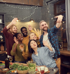 Diverse Group of People Taking Selfie at Party